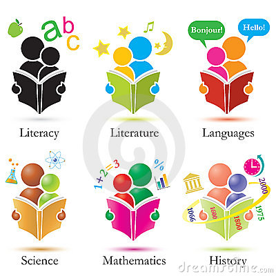Study Together Icons Set