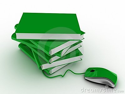 Studying of books by means of the computer mouse