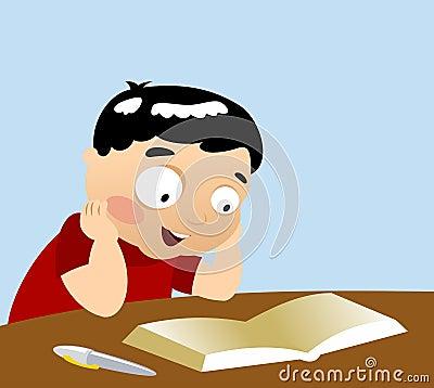Studying Boy