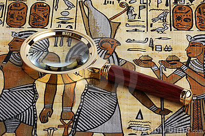 Studying of the Egyptian papyrus