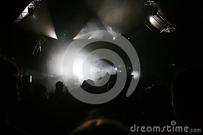 Stufe beleuchtet Konzert