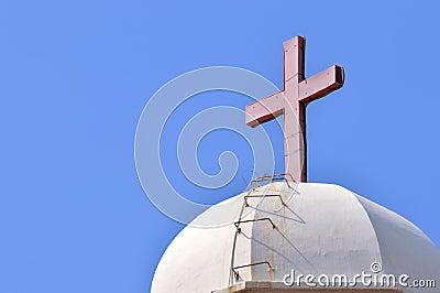 Stufe zum roten Kreuz