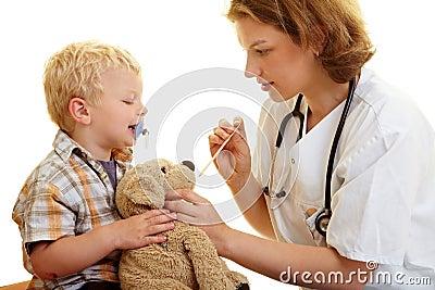 Stuffed animal at pediatrist