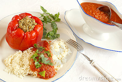Stuffed Bell Pepper Royalty Free Stock Image - Image: 10369286