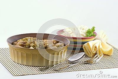 Stuffed Cabbage and potatoes