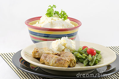 Stuffed Cabbage and potatoes