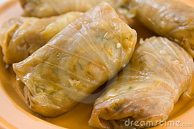 Stuffed cabbage roll,