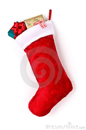 Free Stuffed Christmas Stocking Royalty Free Stock Photo - 15863355