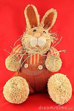 Stuffed decorative rabbit