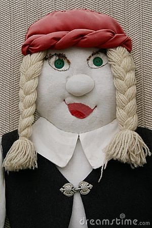 Stuffed female doll