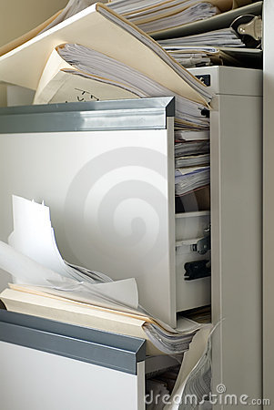 Free Stuffed File Cabinet Royalty Free Stock Image - 1411946