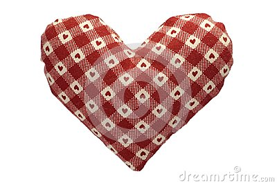 Stuffed gingham heart