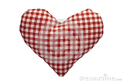 Stuffed gingham heart