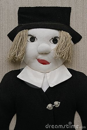 Stuffed male doll