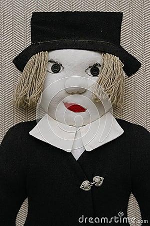 Stuffed male doll