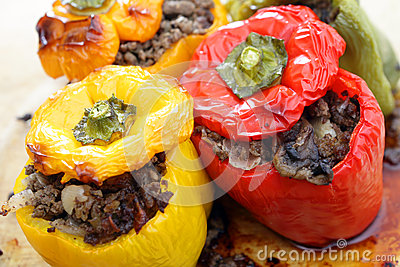 Stuffed peppers from the oven
