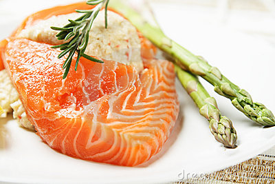 Stuffed salmon