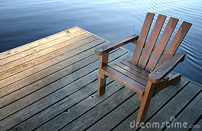 Stuhl auf Dock
