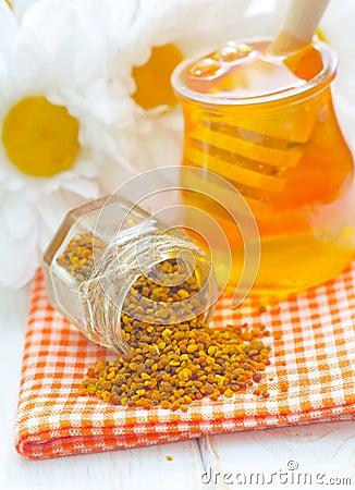Stuifmeel en honing