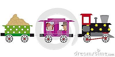 Stuk speelgoed trein