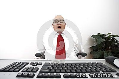 Stunned businessman