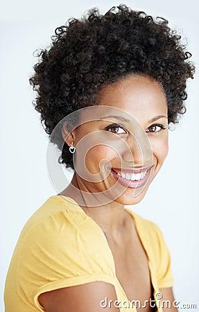 Stunning African American beauty