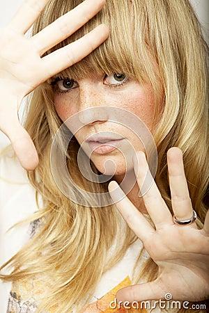 Stunning blond long haired girl