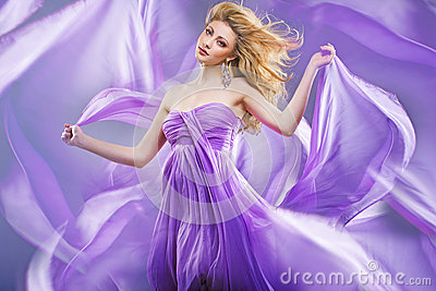 Stunning blonde like purple princess
