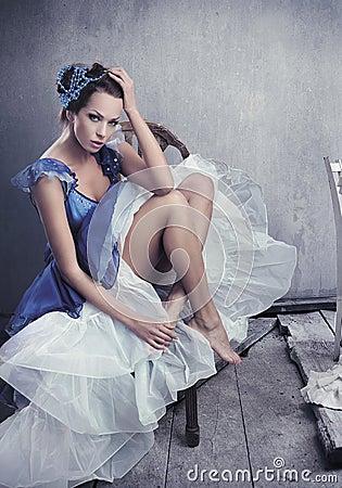 Free Stunning Brunette Beauty Posing Stock Photos - 12825003