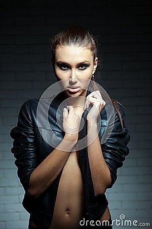 Stunning caucasian model close up