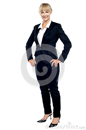 Stunning employee posing confidently