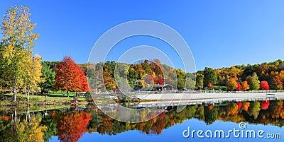 Stunning lake in fall