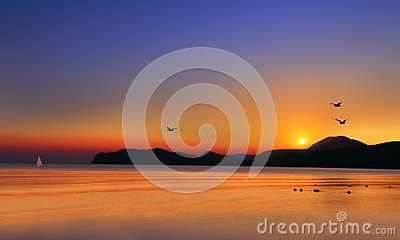 Dawn at the sea