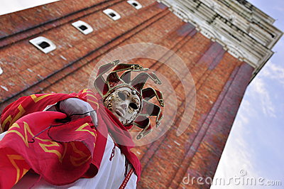 Stunning mask at the carnival in Venice Editorial Image