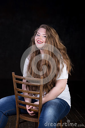 Free Stunning Plus Size Red Head Teen Girl Stock Photography - 94717902