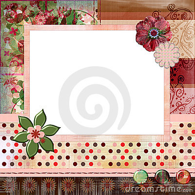 Stunning Scrapbook Album Page Layout 8x8 Inches Gypsy Bohemian Style Royalty Free