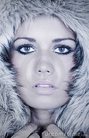 Stunning Teenage Girl in Fur Hood