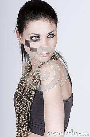 Stunning Teenager with High Fashion Makeup