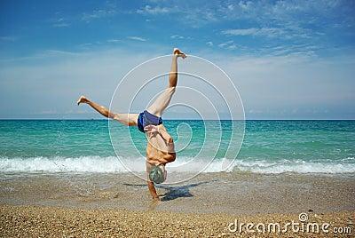 Stunt on beach