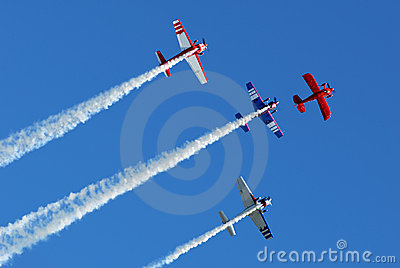 Stunt Planes in Formation
