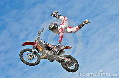 Stunt rider Editorial Stock Photo