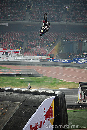 Stunt rider performance Editorial Stock Image