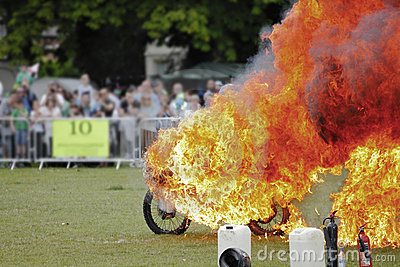 Stuntman on fire