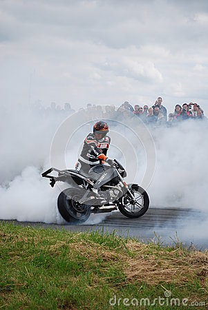 Stuntshow motocycle Editorial Image