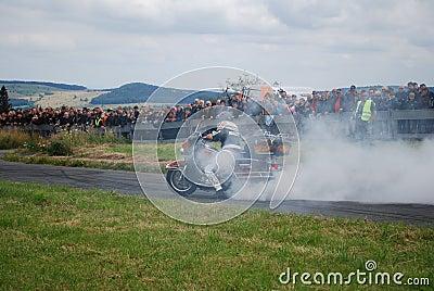 Stuntshow motocycle Editorial Stock Image