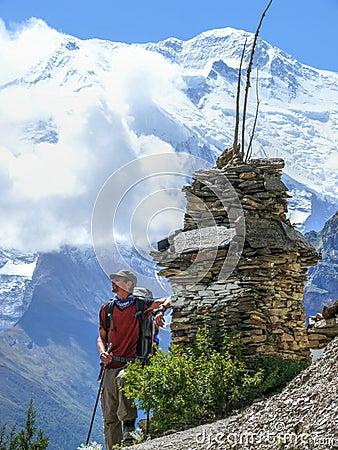 Free Stupa And Annapurna, Nepal Royalty Free Stock Photography - 54467137