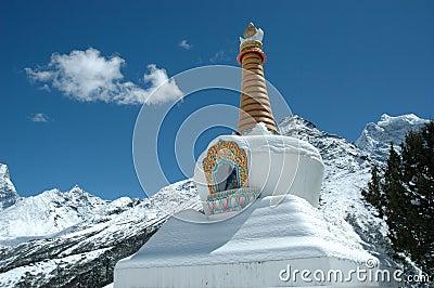 Stupa Bouddhiste En Himalaya