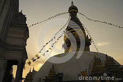 Stupa in Evening Light
