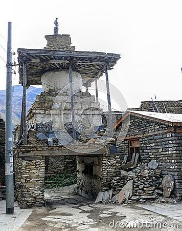 Free Stupa In Ngawal Village, Nepal Royalty Free Stock Photo - 54756295