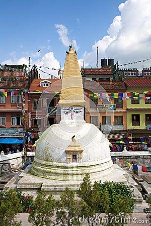 Stupa in Kathmandu Nepal Editorial Image